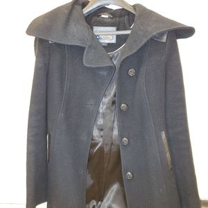 Mackage wool jacket with leather details